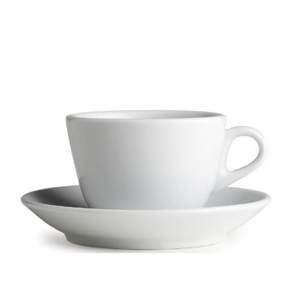 Cappuccinokopp med logga