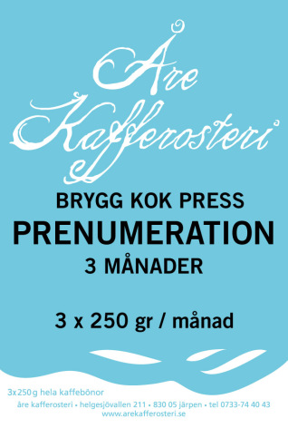 Prenumeration brygg / kok / press